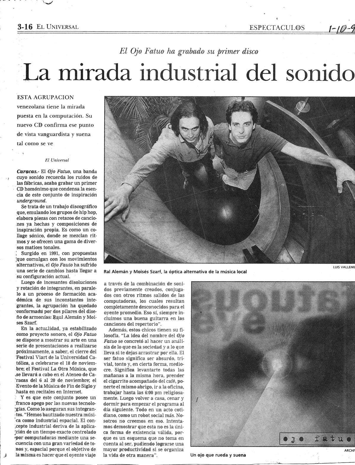 El Universal Newspaper Article Interview