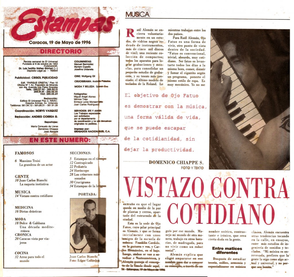 Revista Estampas Interview Ojo Fatuo 2015-10-08