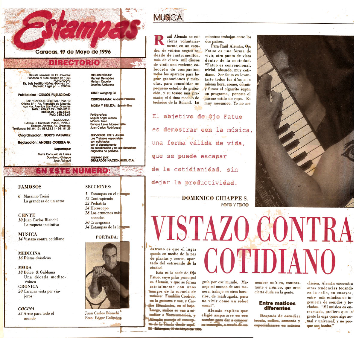 Revista Estampas Interview Ojo Fatuo 2015-10-08