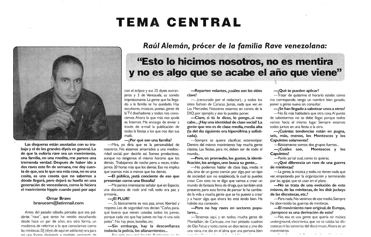 Periodico Letras Entrevista Newspaper Interview Ojo Fatuo